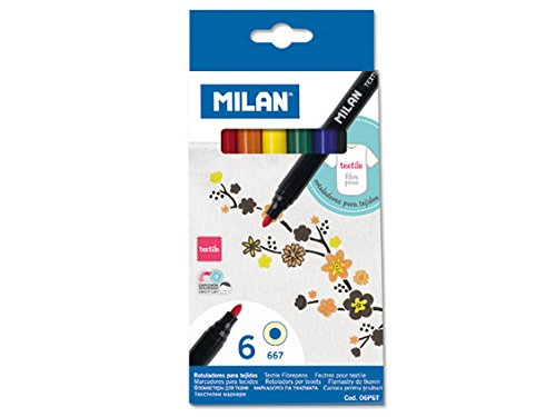 MILAN Fiber Pens for Painting on Fabric-Set of 6