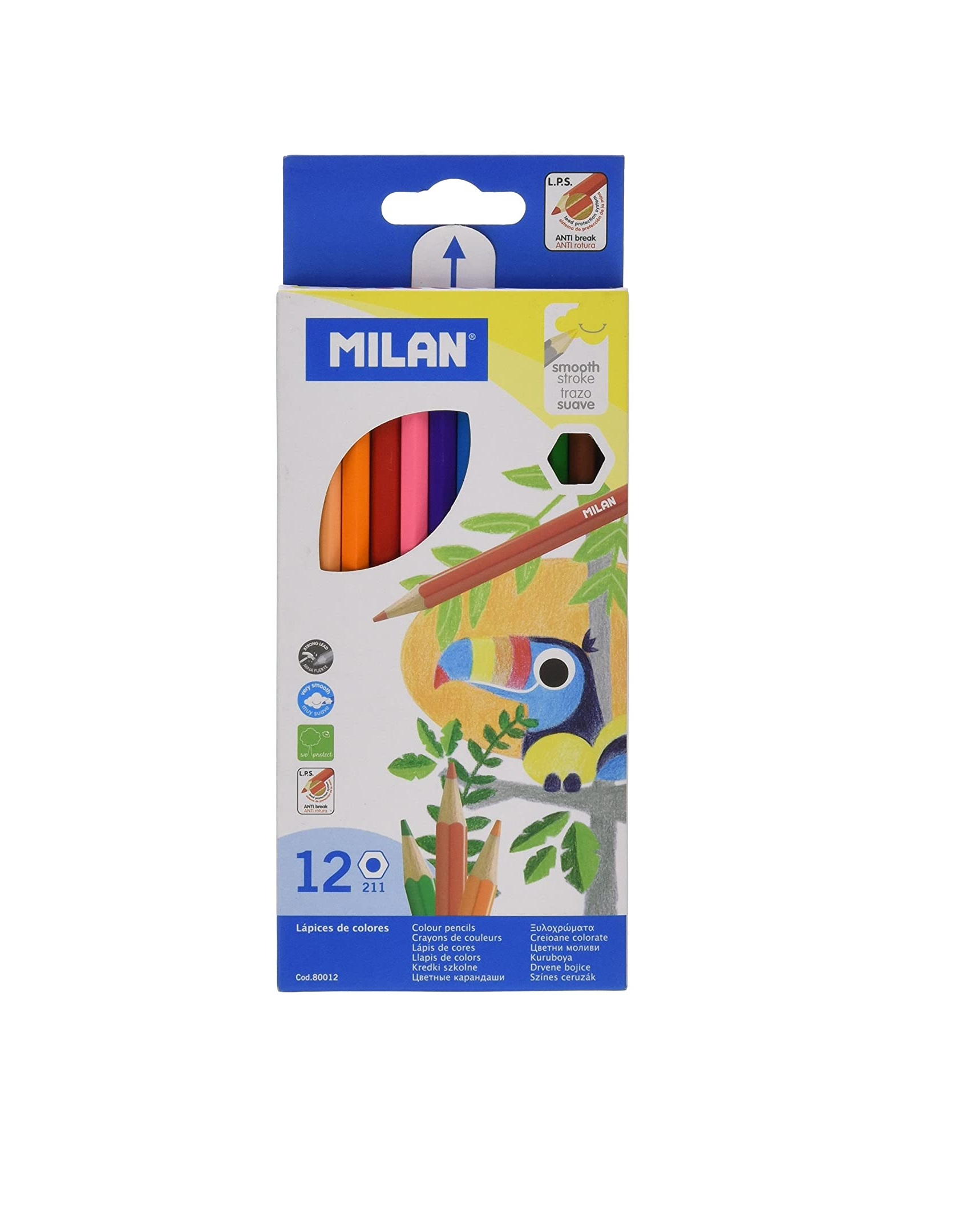 Milan Colored Pencil - Pack of 12