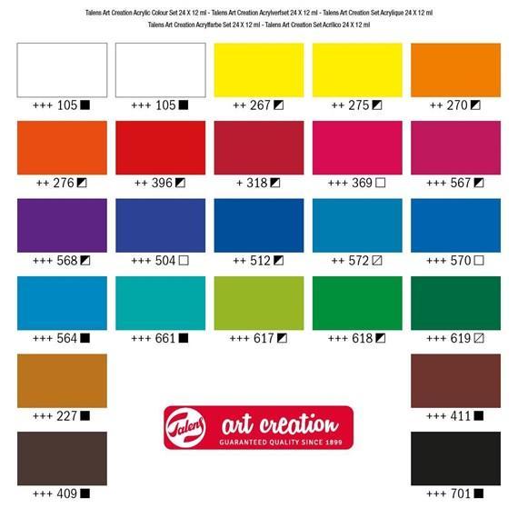 Art Creation Acrylic Colour Set 24x12ml 9021724M