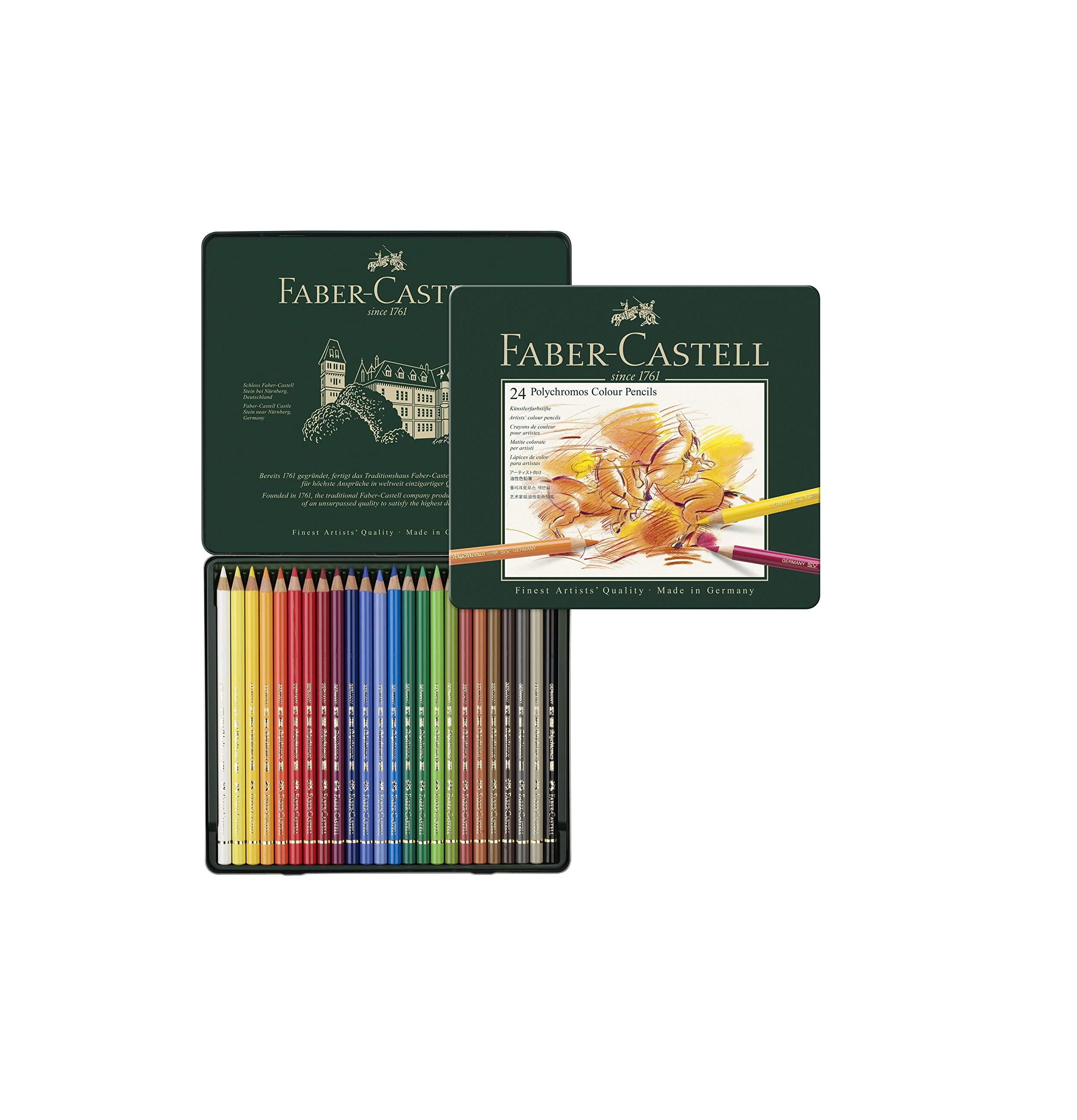 Faber-Castell Polychromos Color Pencil Set - Pack of 24