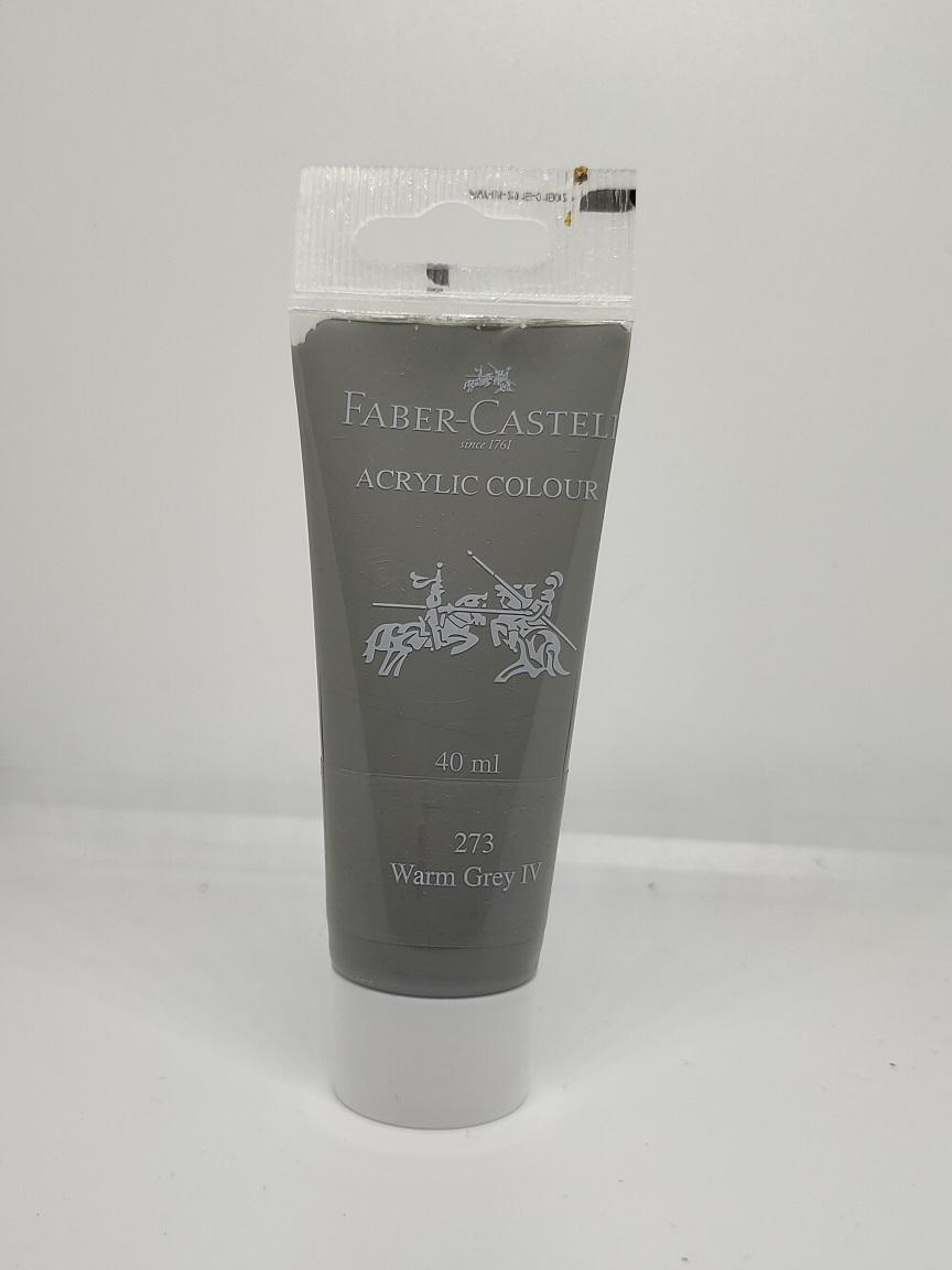 Faber-Castell Acrylic 40 ml Tube - Warm Grey IV 273