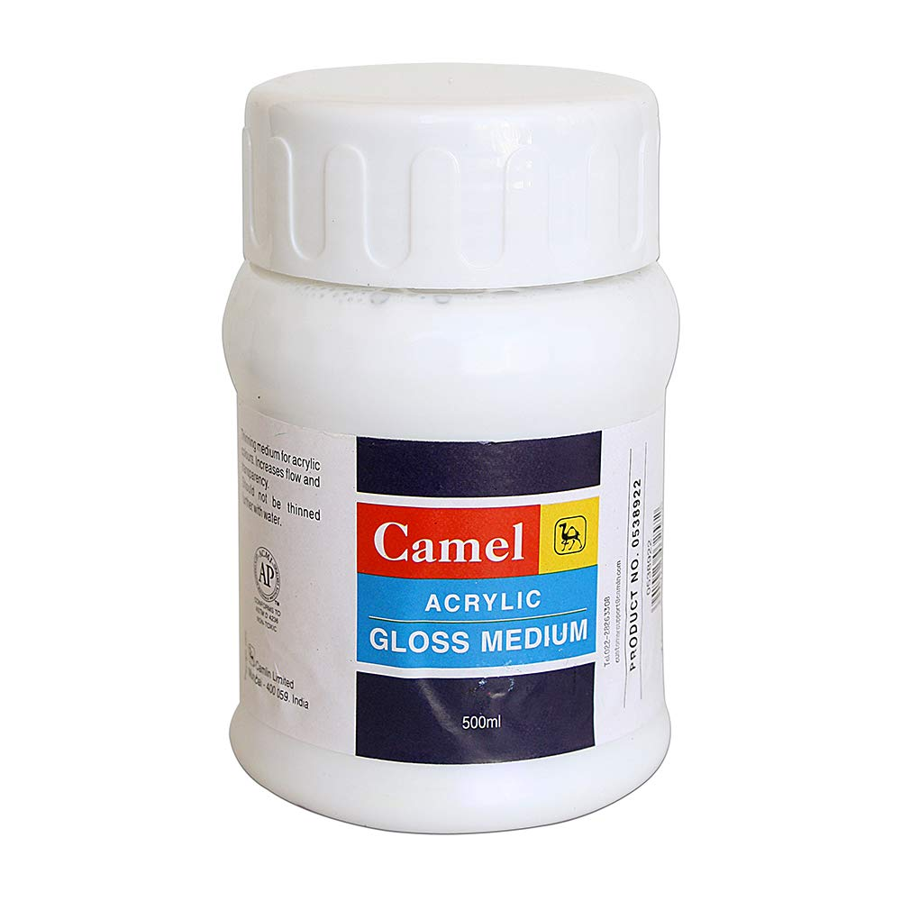 Camel Acrylic Gloss Medium (500ml)