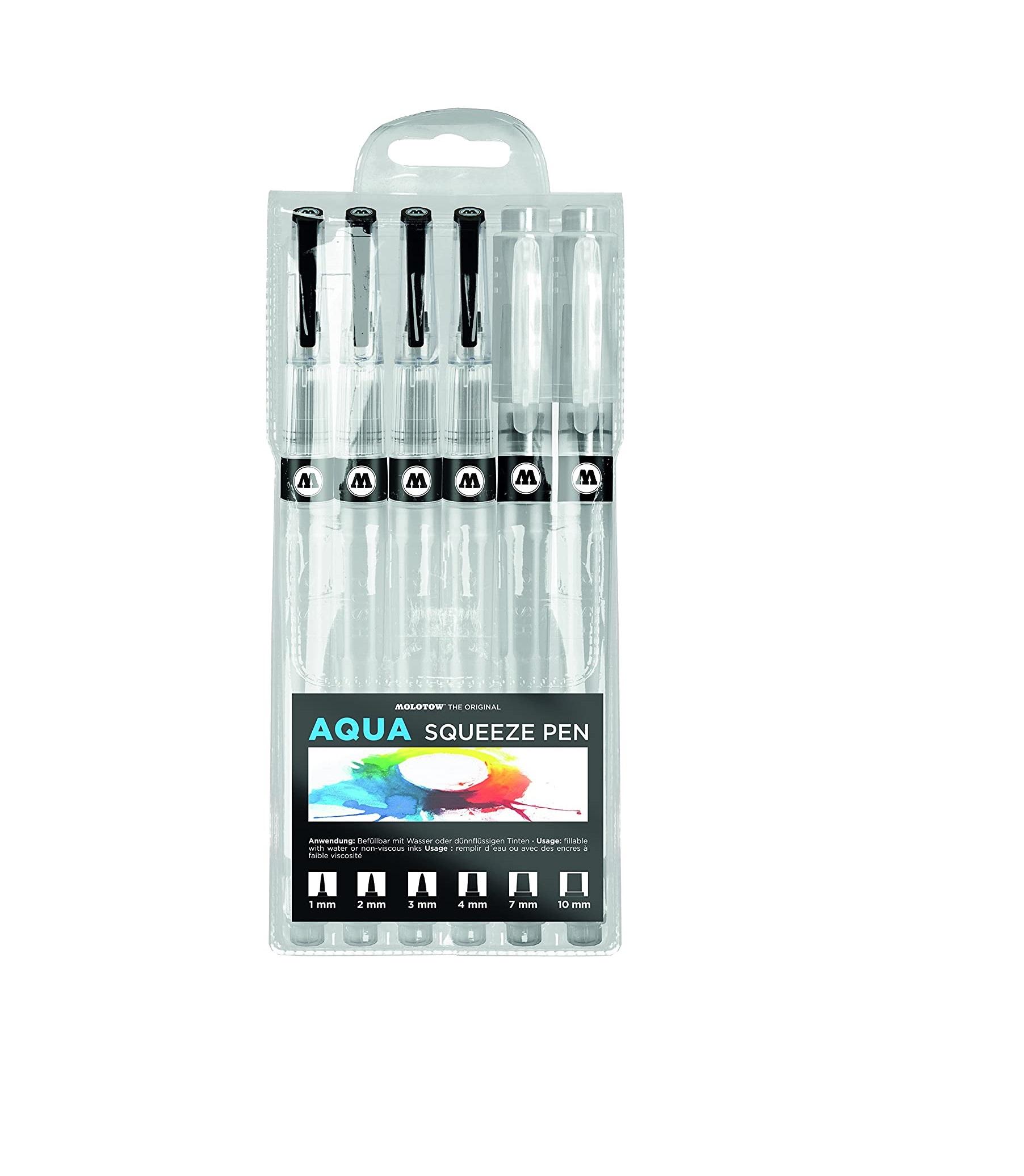 Molotow Aqua Squeeze Pen 6-pen Ink Set