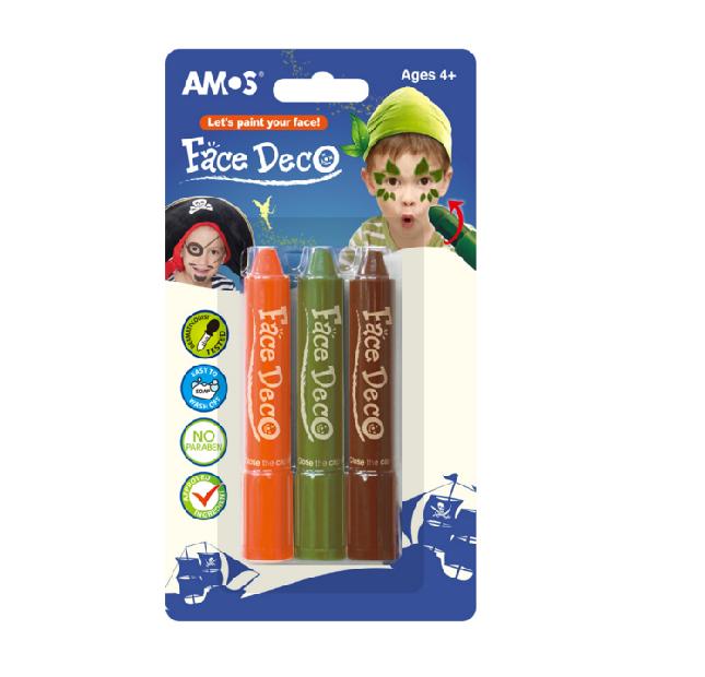 Amos Face Deco - I Set of 3 Colors