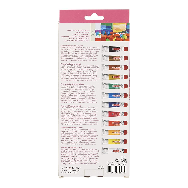 Art Creation Artists' Colours, 12x12ml, Acrylic Colours