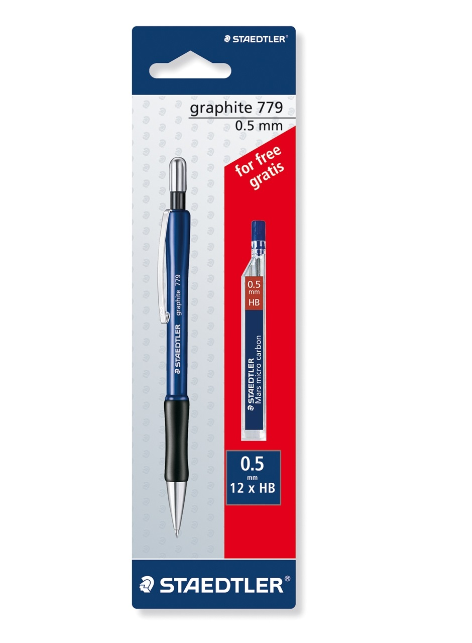 STAEDTLER Graphite 779 Mechanical pencil 0.5mm with 1 pack HB lead free
