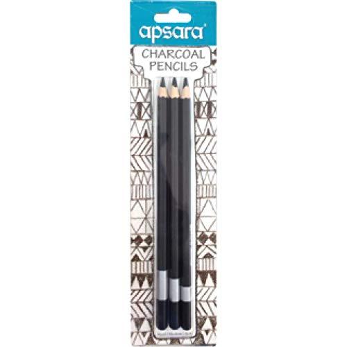 Apsara Charcoal Pencils set of 3