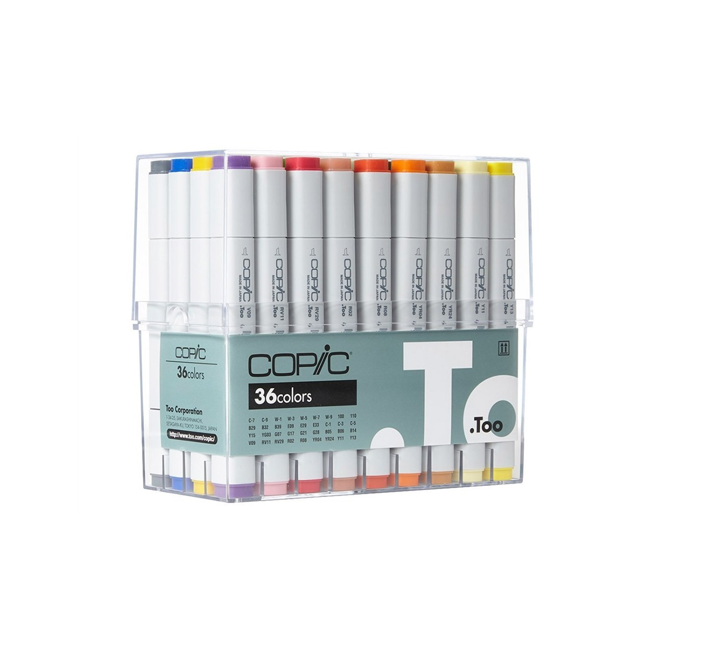Copic 36 Color Markers Set (Color)