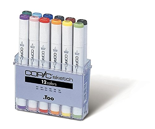 Copic Marker 12-Piece Sketch Basic Set