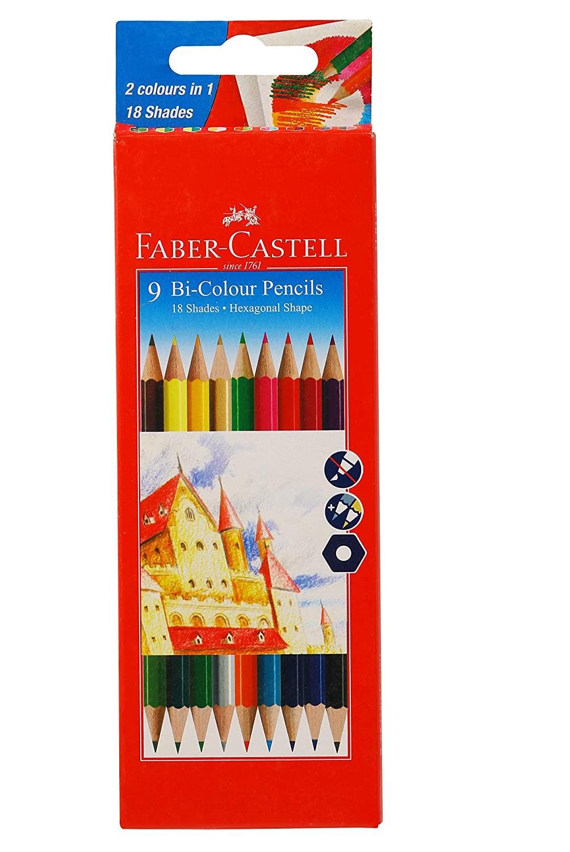 Faber-Castell Bi-Color Pencil Set - Pack of 9 (Assorted)