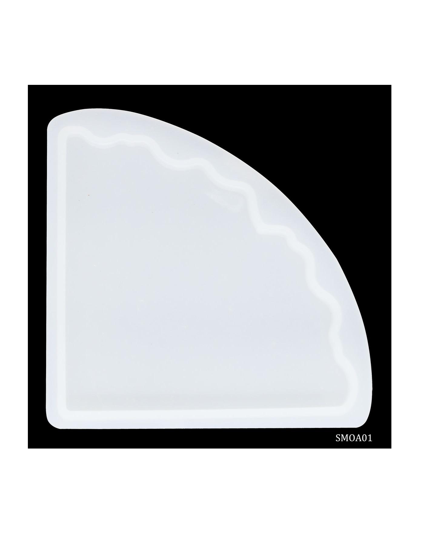 Silicone Mould Agate One Coaster Corner SMOA01