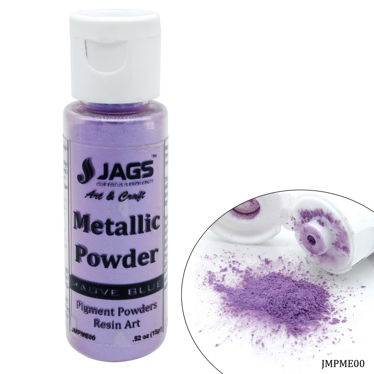 Jags Metallic Powder Mauve Blue 15Gms JMPME00
