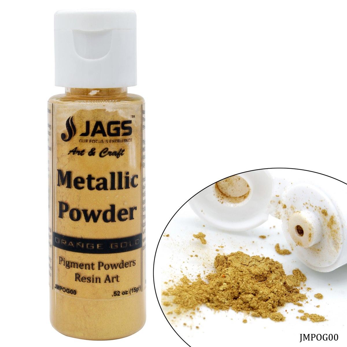 Jags Metallic Powder Orange Gold 15Gms JMPOG00