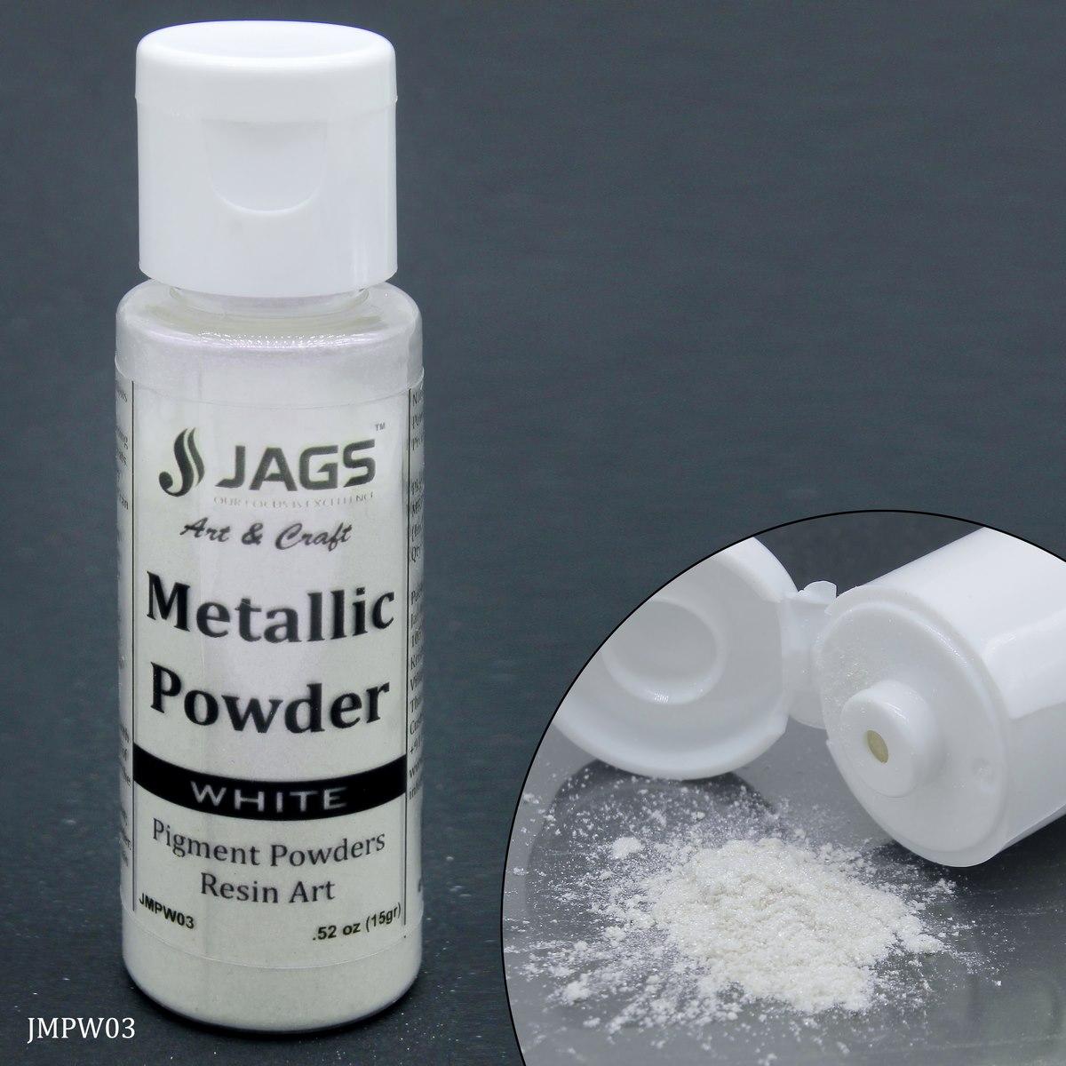 Jags Metallic Powder White 15Gms JMPW03