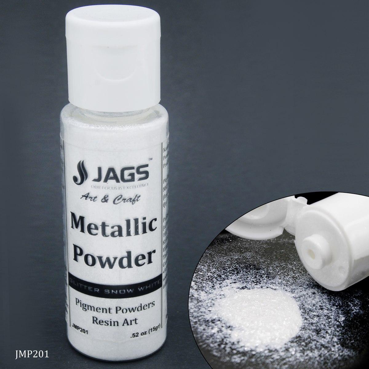 Jags Metallic Powder Gilt Snow White 15Gms JMP201