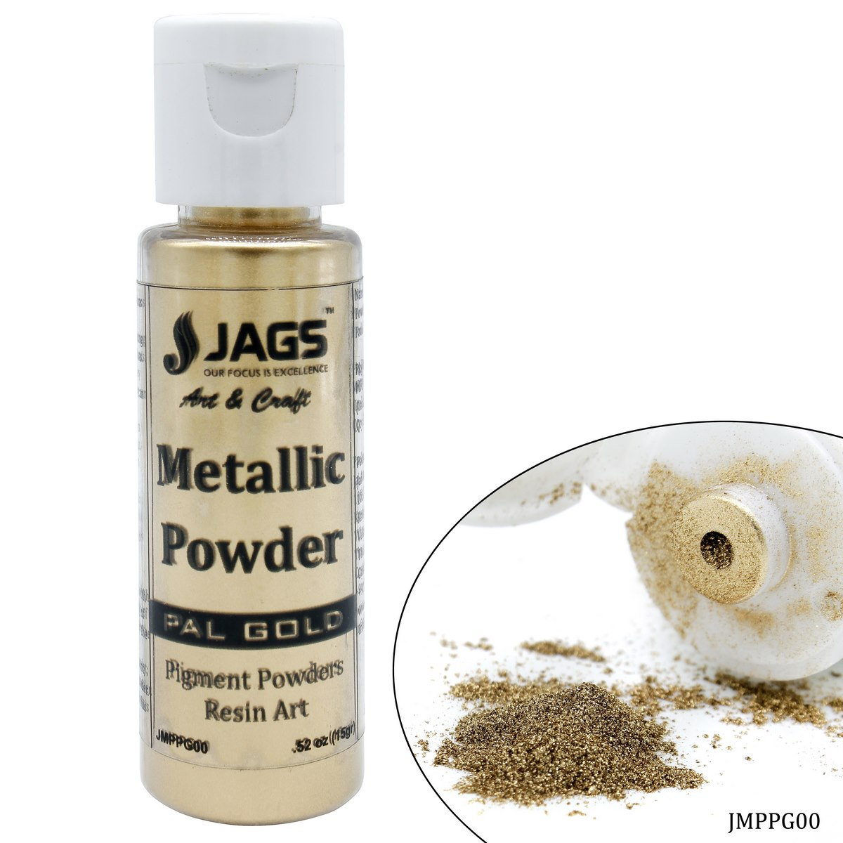 Jags Metallic Powder Pal Gold 15Gms JMPPG00