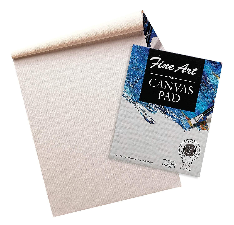 Fine Art Cotton Acrylic Painting Canvas Pad (12 X 16 Inch)