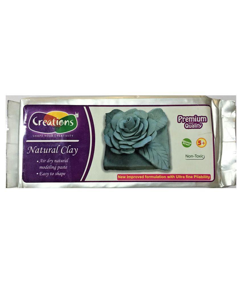 Creations Natural Clay - 500 gm - Grey