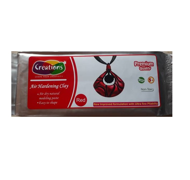Creations Natural Clay - 500 gm - Red