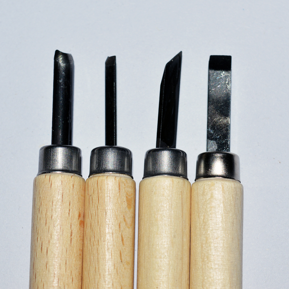 Nature 4PCS Wooden Carving Sets for Artist DIY Craft Working