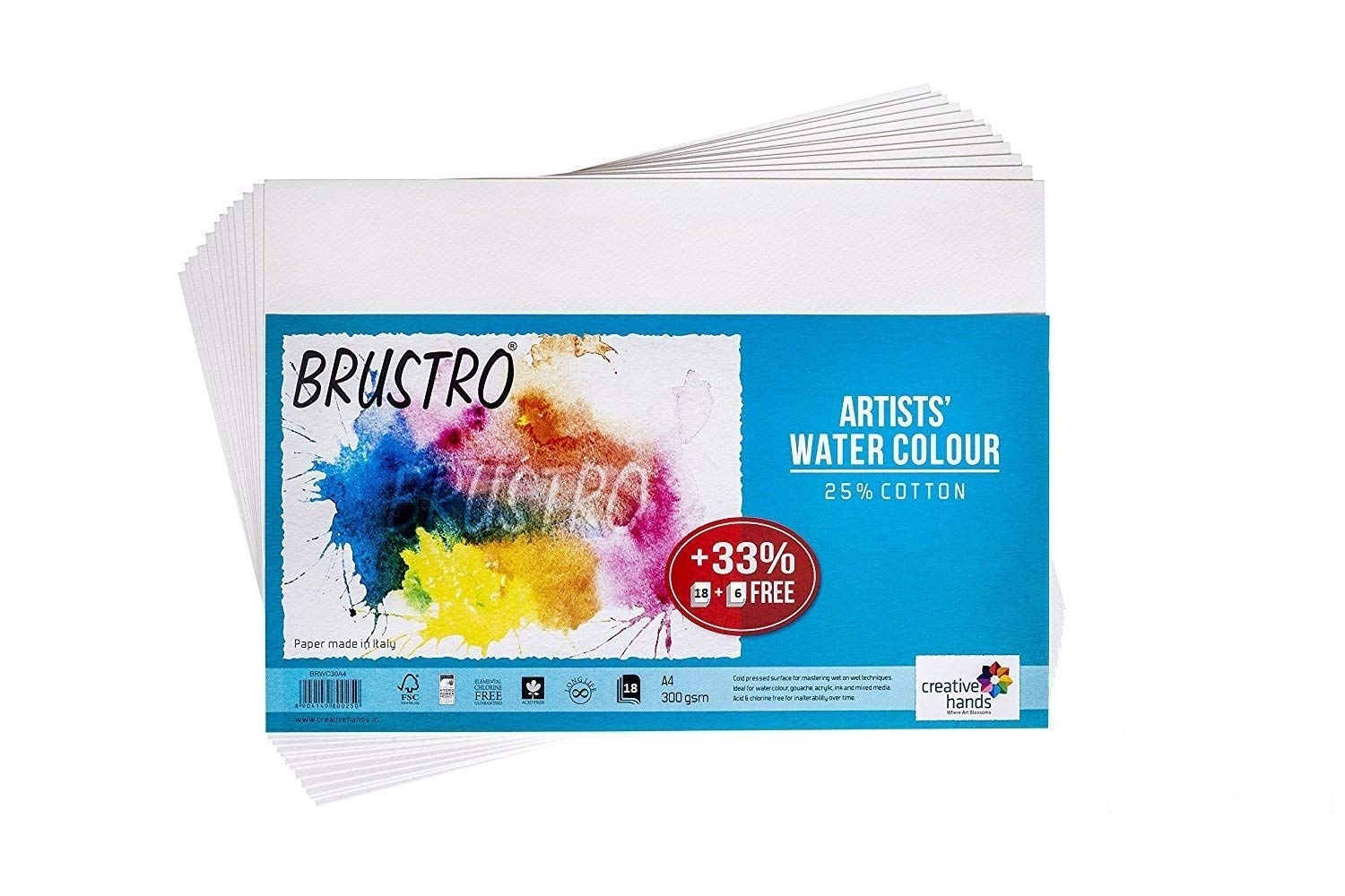 Brustro Artists' Watercolour Paper 300 GSM A4