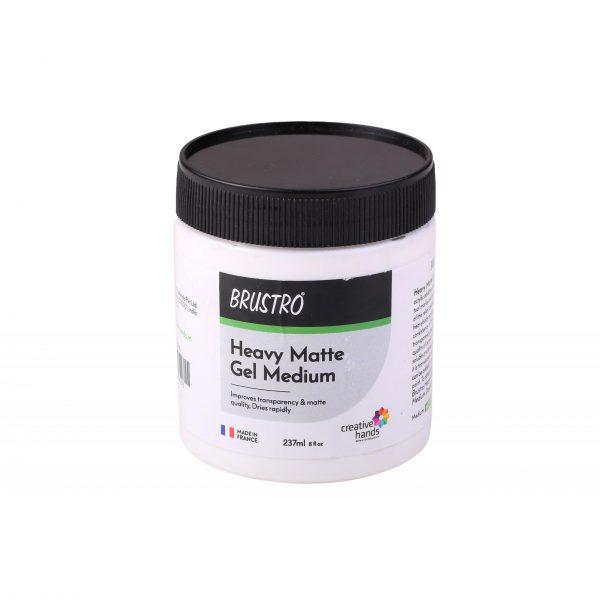 Brustro Professional Heavy Matte Gel Medium 237ml