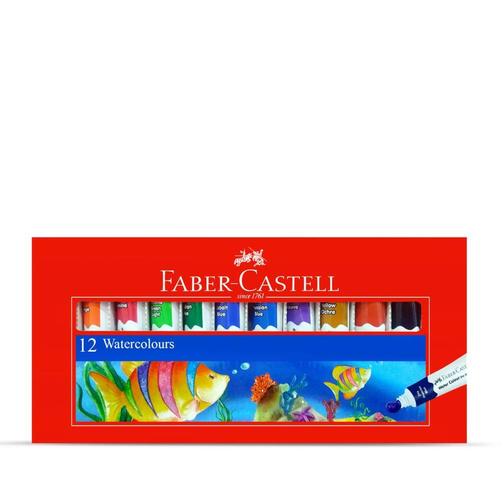 Faber-Castell Student Water Color - Pack of 12 (Assorted)
