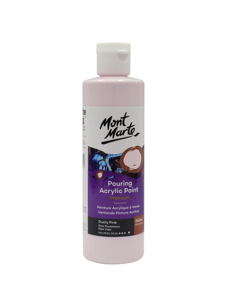 Mont Marte Premium Pouring Acrylic Paint 240ml (8.12oz) - Dusty Pink
