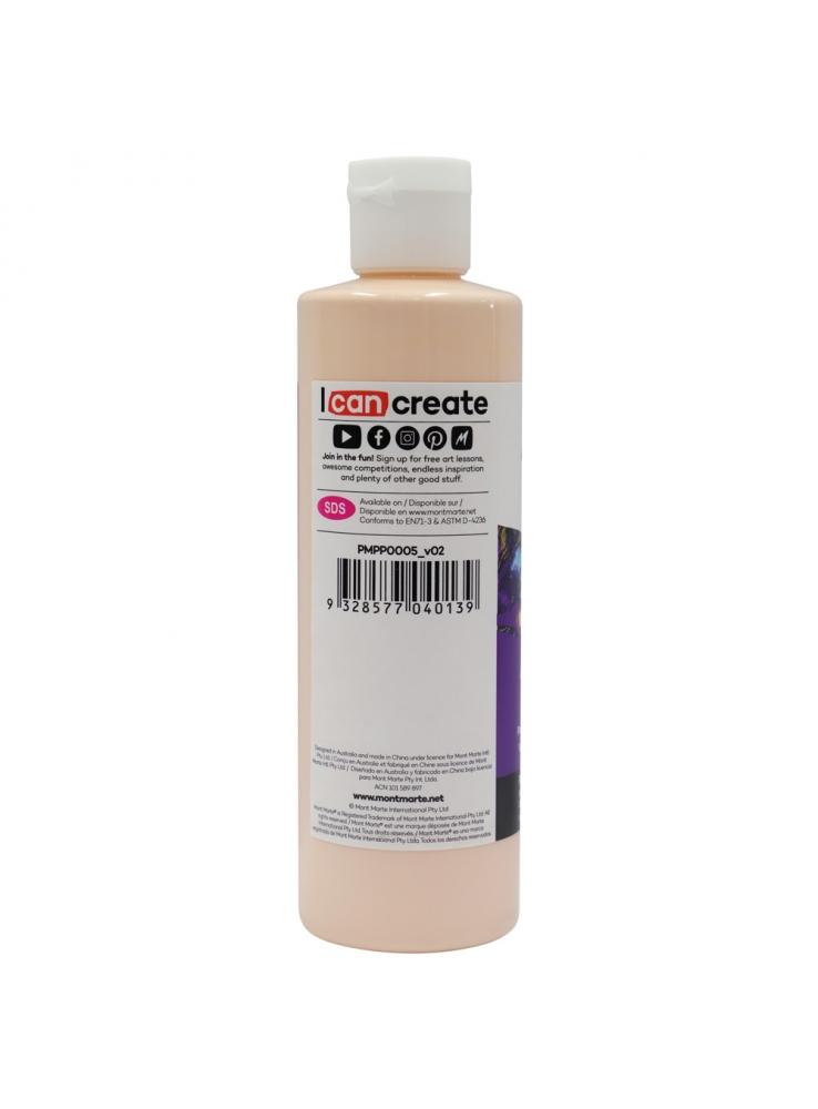 Mont Marte Premium Pouring Acrylic Paint 240ml (8.12oz) - Peach