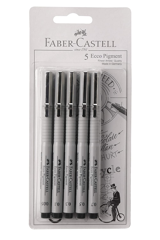 Faber-Castell ECCO PIGMENT FIBRE TIP PEN (0.05/0.1/0.3/0.5/0.7)