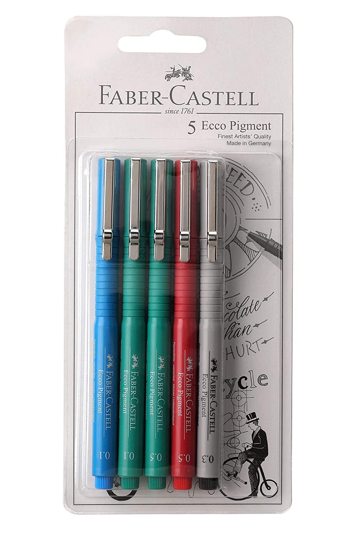 Faber-Castell ECCO PIGMENT FIBRE TIP PEN (0.1/0.3/0.5/0.5/0.1)
