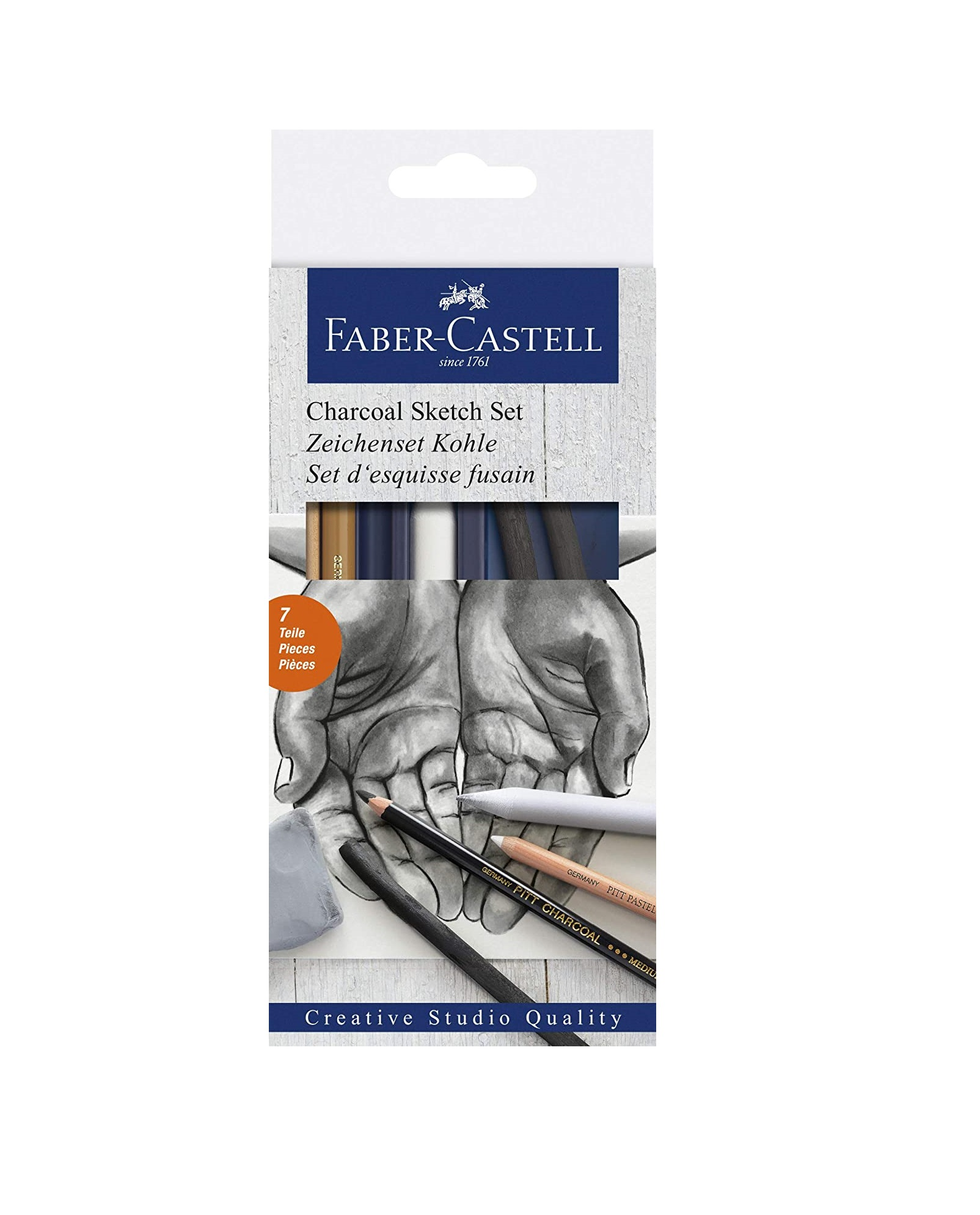 Faber-Castell Charcoal Drawing Set - Pack of 6