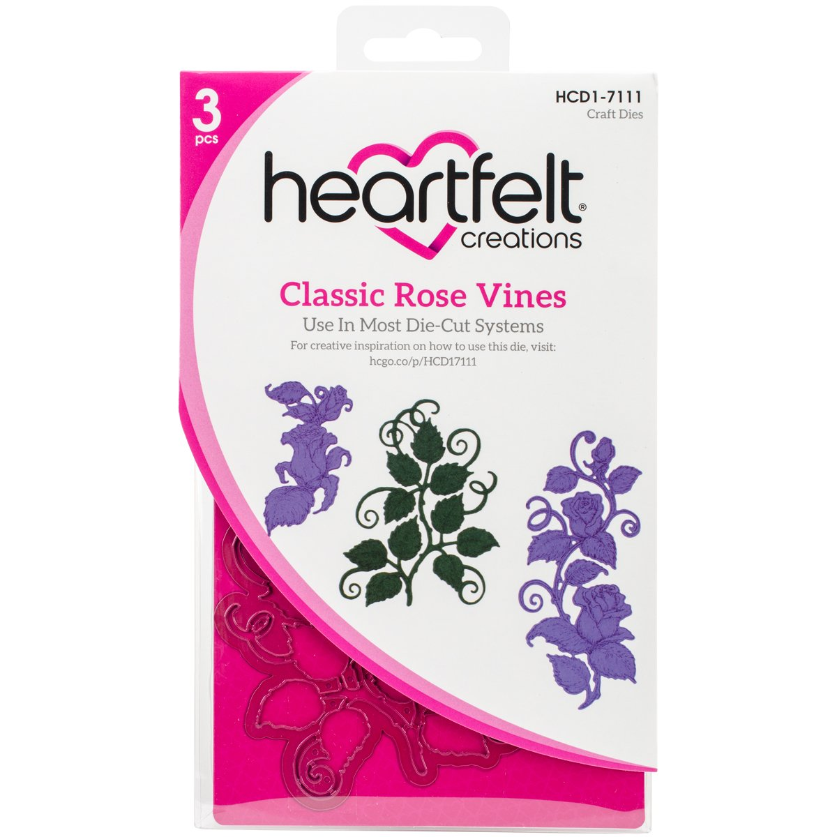 Heartfelt Creations Classic Rose Vines Die HCD17111