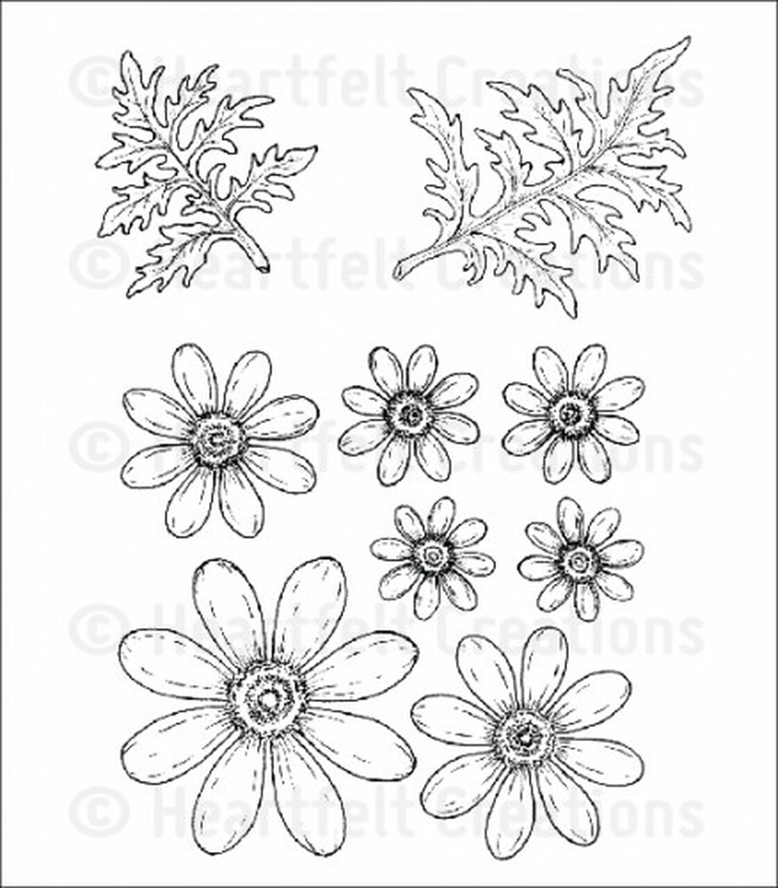 Delightful Daisies Cling Stamp Set HCPC3656