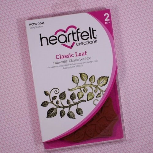 Classic Leaf Cling Rubber Stamp HCPC3546