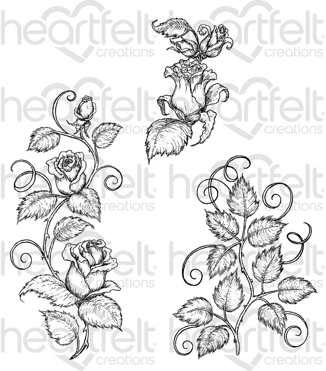 Creations Rose Vines Cling Rubber Stamp HCPC3753