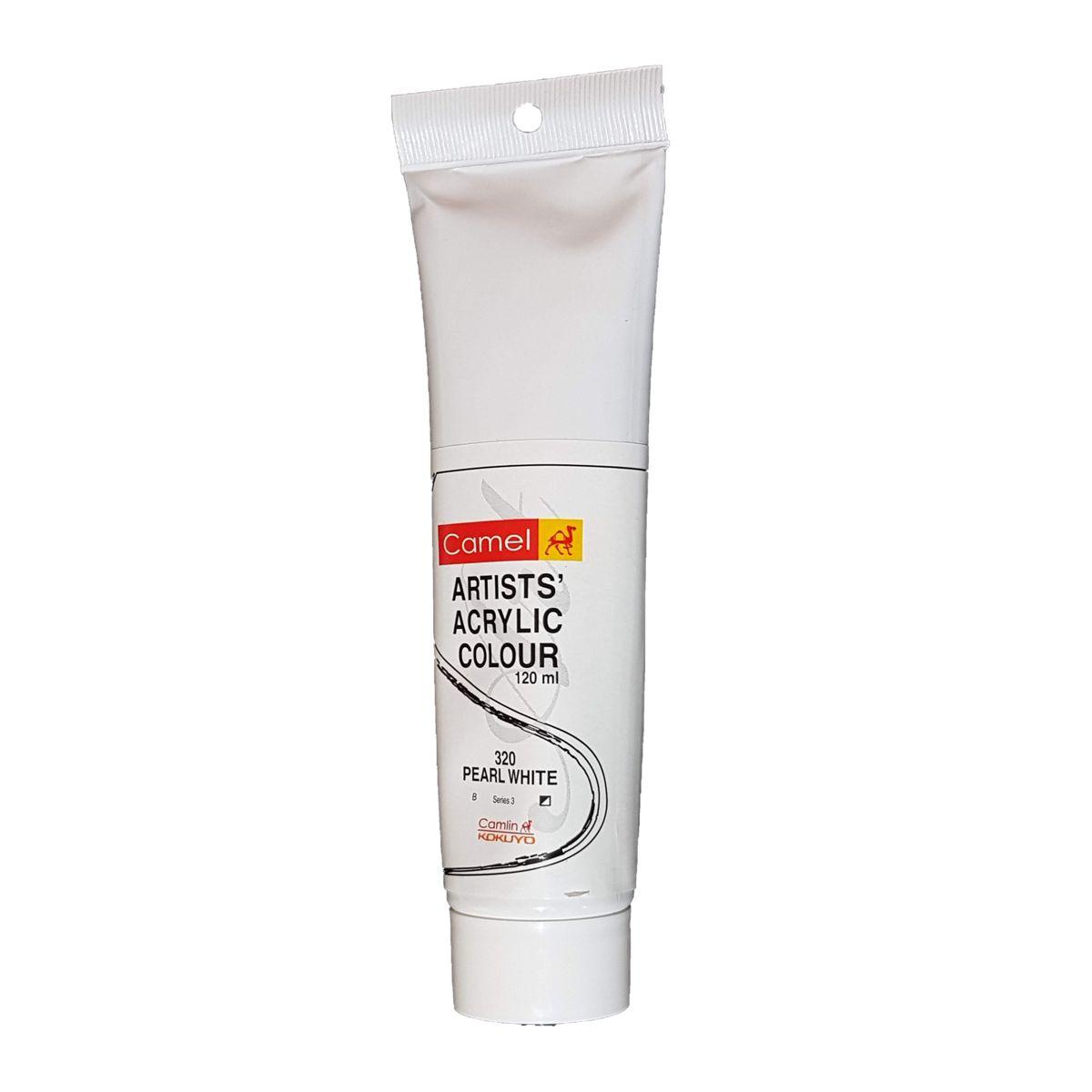Camlin Artist Acrylic Colour 120ml Pearl White 320