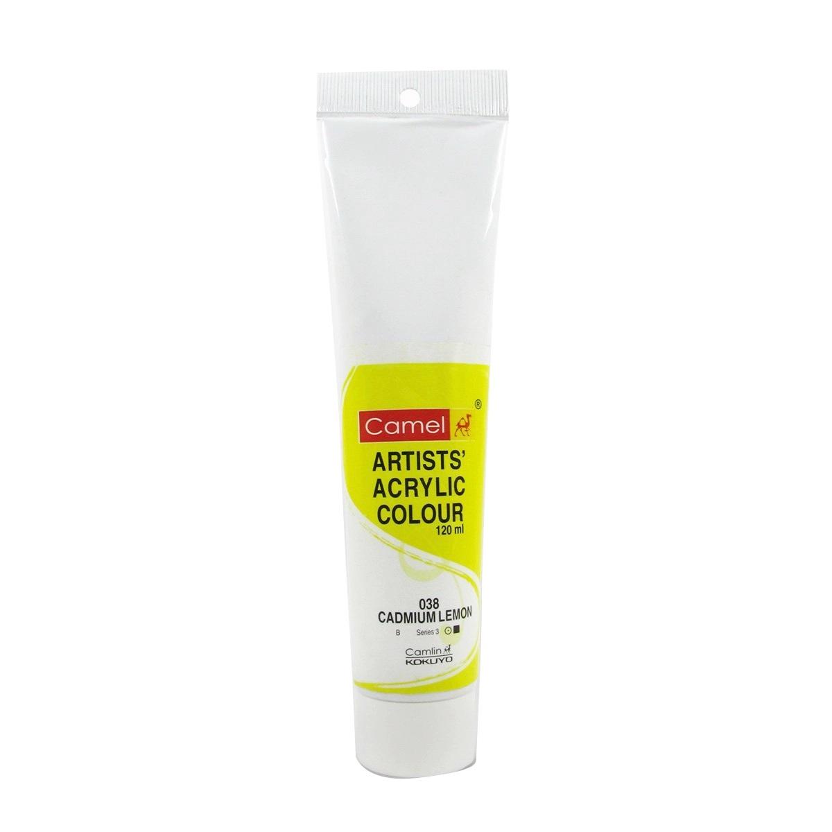 Camlin Artist Acrylic Colour 120ml Cadmium Lemon 038